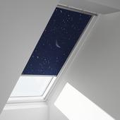 Velux dakraamrolgordijn donkerblauw ster (5265) - M04/304