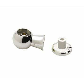 Middensteun 12,7 mm gordijnroede aluminium 2 stuks