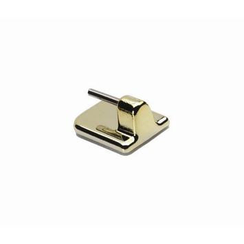 Zelfklevende steun t.b.v. 6 mm uitschuifbare vitrage roede goud 4 stuks