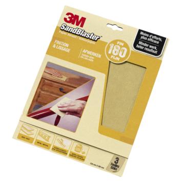 3M™ SandBlaster™ schuurpapier p180 3 stuks