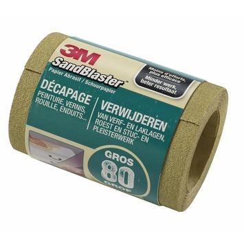 3M™ SandBlaster™ schuurpapier op rol p80 2,5mx11,5cm