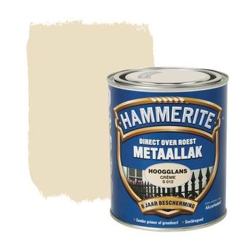 Hammerite Direct over Roest metaallak hoogglans crème 750 ml