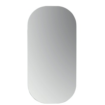 plieger basic spiegel met afgeronde hoeken zilver 80 x 40 cm kopen spiegels karwei. Black Bedroom Furniture Sets. Home Design Ideas