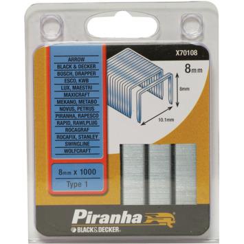 Piranha type 1 nieten 8 mm X70108-QZ 1000 stuks