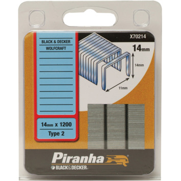 Piranha type 2 nieten 14 mm X70214-QZ 1200 stuks