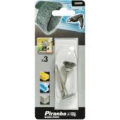 Piranha staaldraadborstel mini x36090-xj 3 stuks