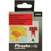 Piranha klemsteunen voor werkblad workmate X40400 (4 stuks)