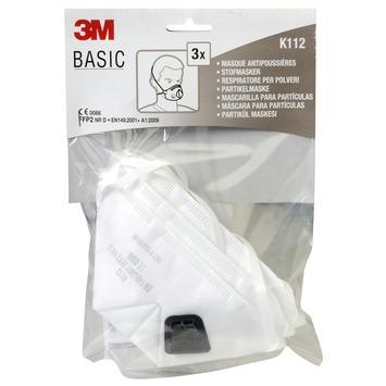3M Stofmasker basis model FFP2 3 stuks inclusief uitademventiel