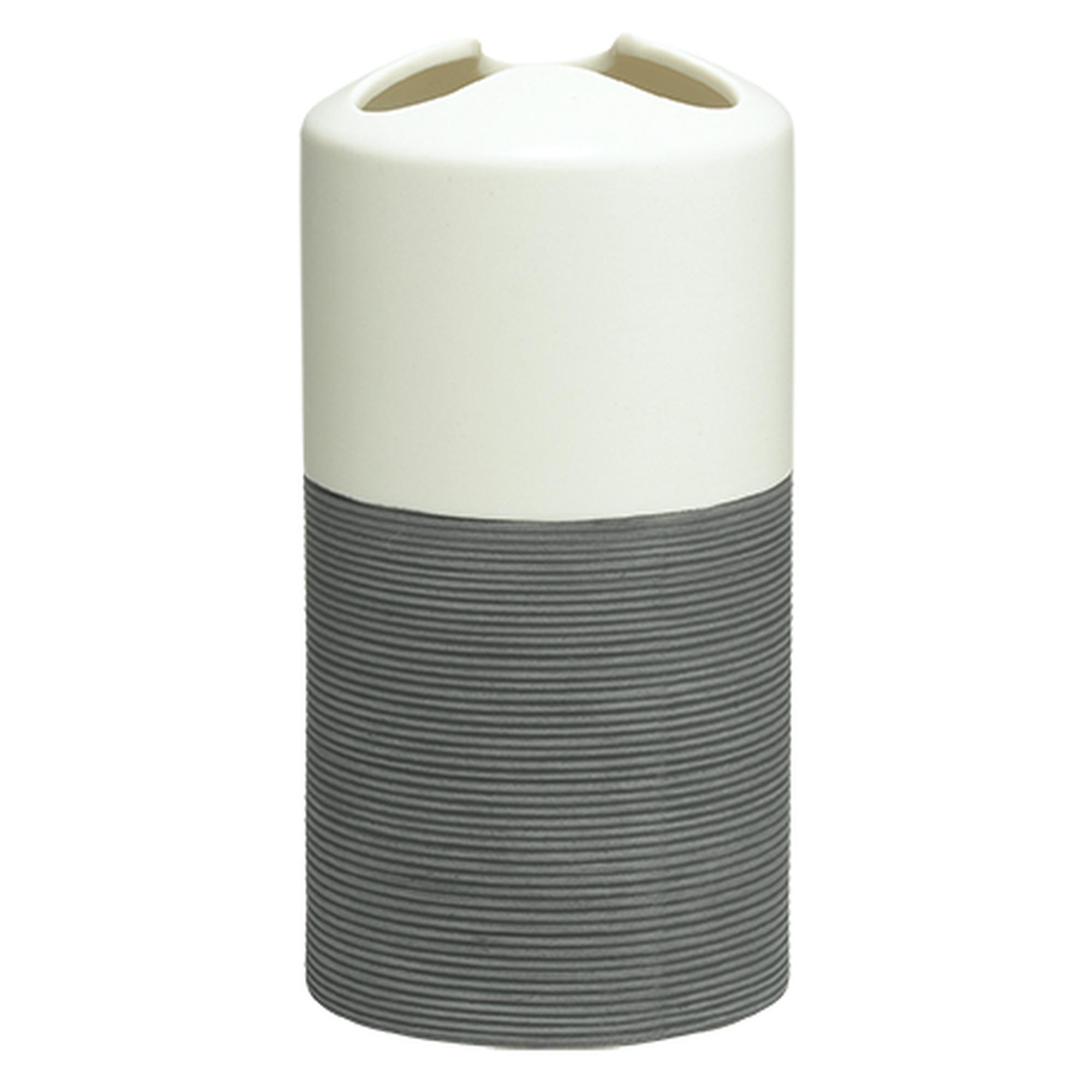 Sealskin Doppio tandenborstelhouder 7x14cm porselein grijs