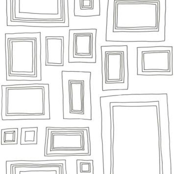 Papierbehang fotolijst wit (dessin 52050)
