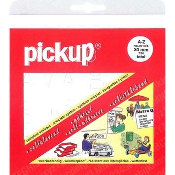 Pickup plakletter A-Z wit 30 mm