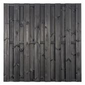 Schutting Nero antraciet grenenhout ca. 180x180 cm recht