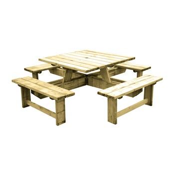 Picknicktafel Aanbieding Praxis.Grenen Picknicktafel Vierkant