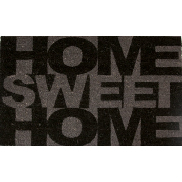 Schraapmat 45x75 cm zwart/grijs