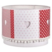 Hanglamp Lotte rood/roze/wit