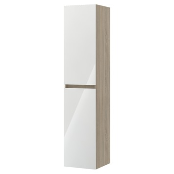 Bruynzeel Monta kolomkast eiken grijs/hoogglans wit 160cm