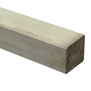 Tuinpaal geïmpregneerd ca. 9x9 cm, lengte ca. 270 cm