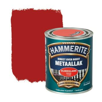 Hammerite Direct over Roest metaallak zijdeglans rood 750 ml