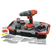 Black + Decker accuschroefklopboormachine EGBL188BAST-QW 18 Volt  + 150-delige Toolbox