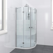 Bruynzeel Vitro douchecabine kwartrond 90x195cm chroom
