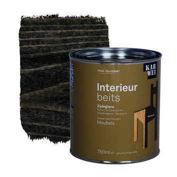 karwei binnenbeits interieur antraciet transparant 750 ml