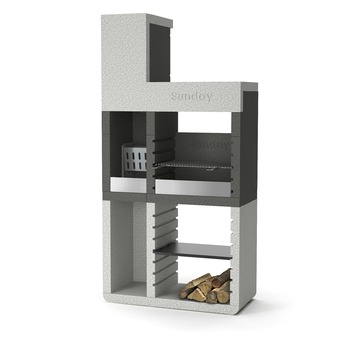Betonnen Barbecue Karwei.Barbecue Beton Sunday One Tower H213 Cm