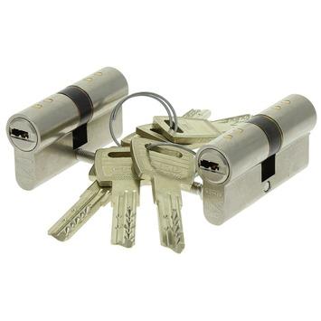 NEMEF veiligheidscilinder met keersleutel 30/30 mm SKG 3-sterren gelijksluitend (2 stuks)