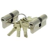 Nemef veiligheidscilinder NF4 met keersleutel 30/30 mm SKG 3-sterren gelijksluitend (2 stuks)