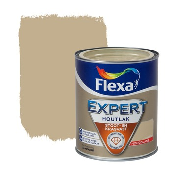 Flexa Expert houtlak hoogglans zandbeige 750 ml