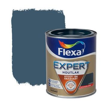Flexa Expert houtlak hoogglans staalblauw 750 ml