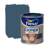 Flexa Expert houtlak zijdeglans staalblauw 750 ml