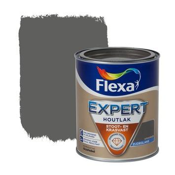 Flexa Expert houtlak zijdeglans antraciet grijs 750 ml