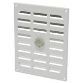 IVC Air schuifrooster aluminium wit 245 x 195 mm