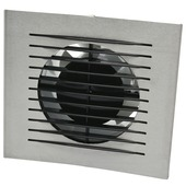 IVC Air Design inbouwventilator met timer aluminium 100 mm