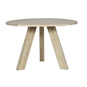 WOOOD tafel Rhonda eiken Ø129x77 cm