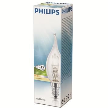 Philips EcoClassic halogeenlamp kaars met gebogen uiteinde helder E14 28W