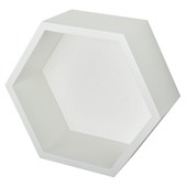 B!Organised hexagon wit 27 x 27 cm