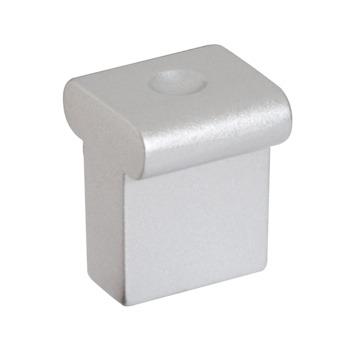 Knop Jutta aluminium 16mm
