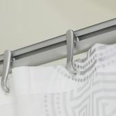 Sealskin Easy Roll douchegordijnstang mat aluminium 90x90 cm incl. haken en plafondsteun