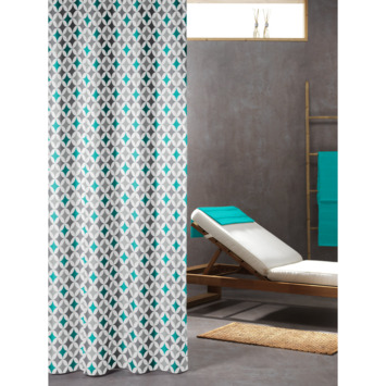 Sealskin Diamonds Douchegordijn Textiel 180x200 cm Aqua