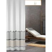 Sealskin Marrakech Douchegordijn Textiel 180x200 cm Zilver