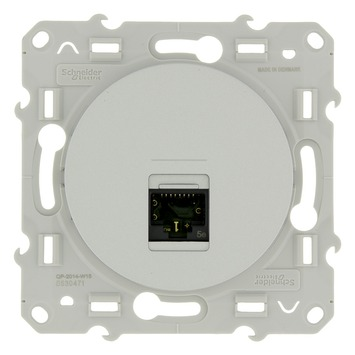Schneider Electric Merten Odace UTP stopcontact CAT5 aluminium