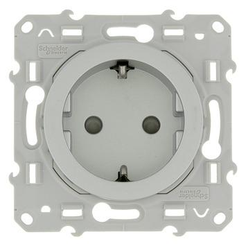 Schneider Electric Merten Odace stopcontact geaard aluminium