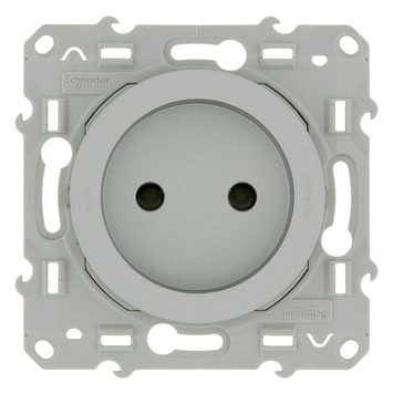 Schneider Electric Merten Odace stopcontact aluminium