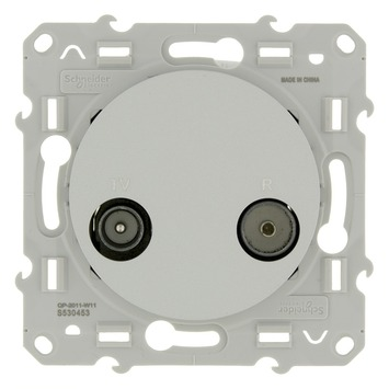 Schneider Electric Merten Odace stopcontact coax aluminium