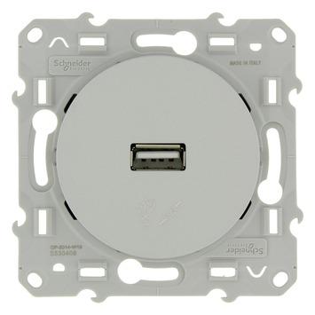 Schneider Electric Merten Odace USB stopcontact aluminium