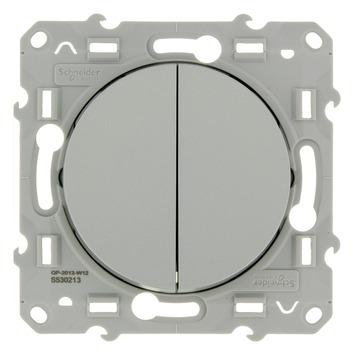 Schneider Electric Merten Odace USB wissel-wisselschakelaar aluminium