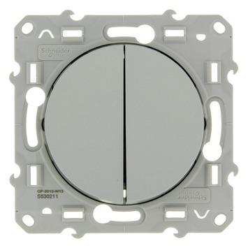 Schneider Electric Merten Odace serieschakelaar aluminium