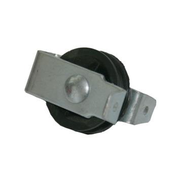 Katrol staand met polypropyleen wiel zwart 40 mm