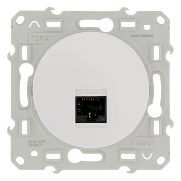 Schneider Electric Merten Odace UTP stopcontact CAT5 wit